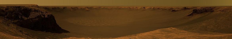 Image du cratère Victoria depuis la sonde Opportunity sur Mars