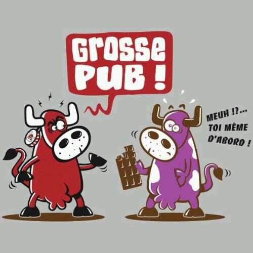 vache qui rit vs vache milka grosse pub meuh toi d'abord