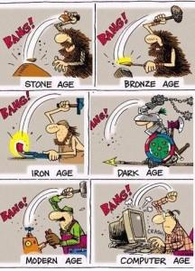 évolution humaine age pierre bronze fer moyen-age et temps moderne ordinateur
