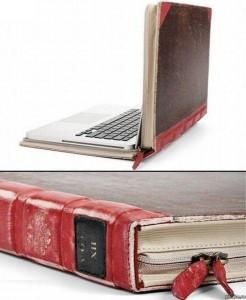 sacoche portable livre roman pc ordinateur