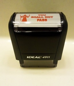 you shall not pass Le Seigneur des Anneaux Vous ne passerez pas Stamp timbre tampon