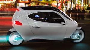 design c-1 voiture véhicule du futur 2014 lit deux places roue scooter