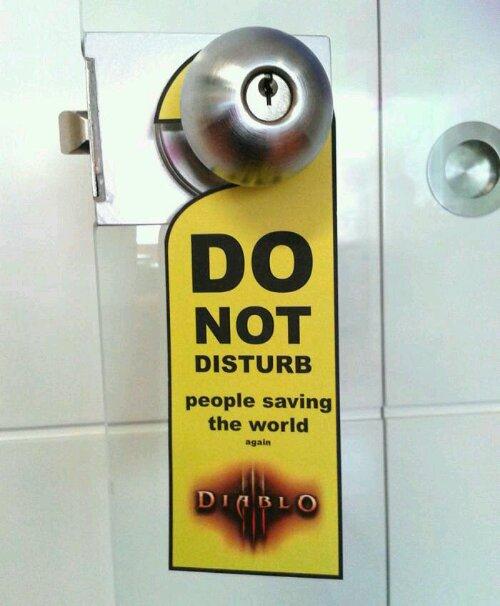Ne pas déranger Diablo 3 porte blizard