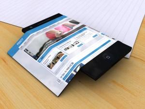 Concept d'iPhone 5 avec écran flexible apple sortie