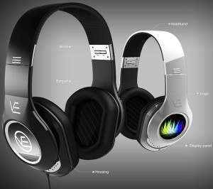 casque audio design écran