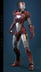 iron-maiden, le costume d'iron man pour femme fille
