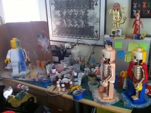 De la sculpture de LEGO anatomie