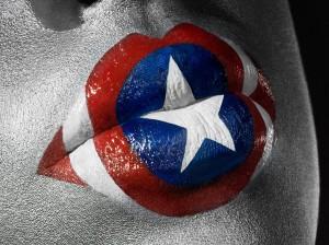 lèvres captain america geek fille femme avengers bouche