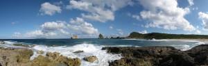 Pointe des Châteaux en Guadeloupe ocean