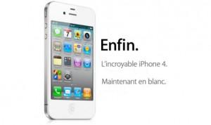 iphone 4 en blanc humour