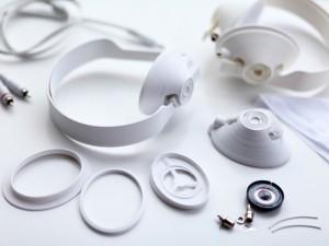 éléments du casque audio à imprimer en 3D 3D imprimante écouteur