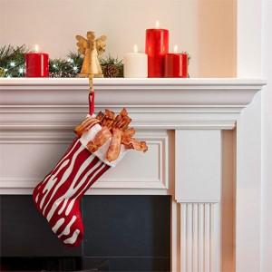 Chaussette de Noël en Bacon charcuterie
