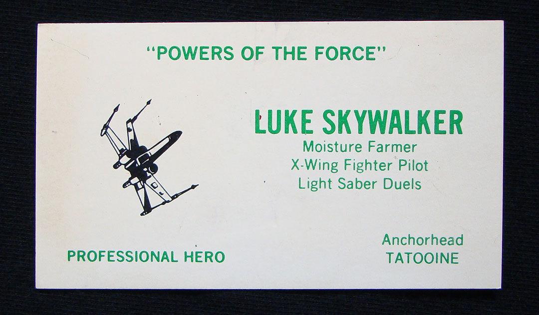 Les Cartes De Visites Des Heros Star Wars Printf