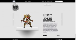 Internet a maintenant un musée logo leeroy jenkins wow warcraft jeu video