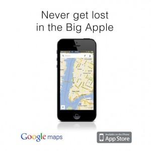 Google Maps de retour sur Apple Store et il vous aide a vous retrouver dans la grosse pomme qu'est New York avec un petit troll au passage