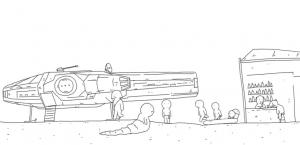 L'épisode IV de Star Wars résumé en 60 secondes et en dessin