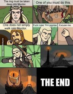 le seigneur des anneaux résumé en 9 images humour drôle
