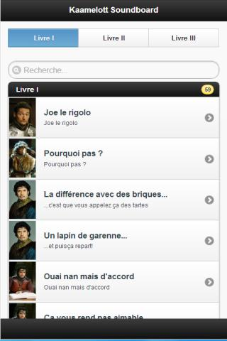 Kaamelott l'application soundboard