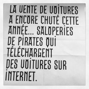 Télécharger des voitures par internet, saleté de pirate !