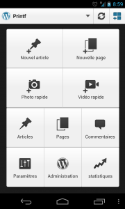 android application wordpress