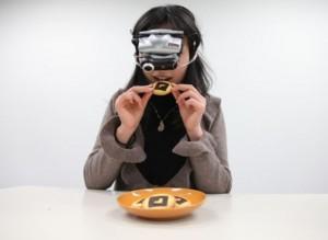 diet-goggles des lunettes pour manger moins fille japon