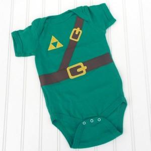 barboteuse que Zelda Link geek nerd bebe enfant nourisson