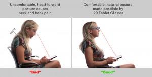 lunette pour tablette i90 femme chaise