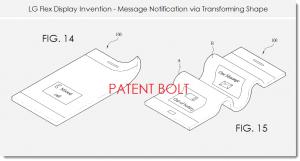 LG ecran flexible message reçu brevet