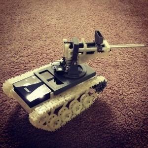 tank raspberry pie geek char assaut chenille imprimante 3D