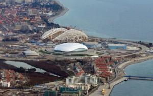 Sotchi ville met noir construction jeux olympiques