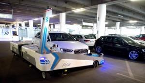 aeroport de Dusseldorf garer voiture robot