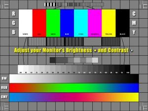 calibration ecran couleur contrast