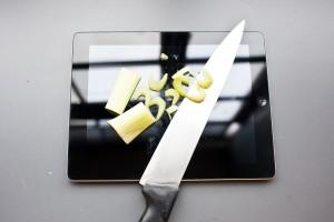 utilisation tablette tactile cuisine