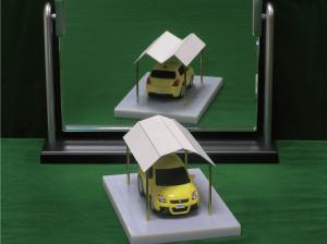 voiture illusion optique toit