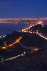 pont san fransisco de nuit smartphone